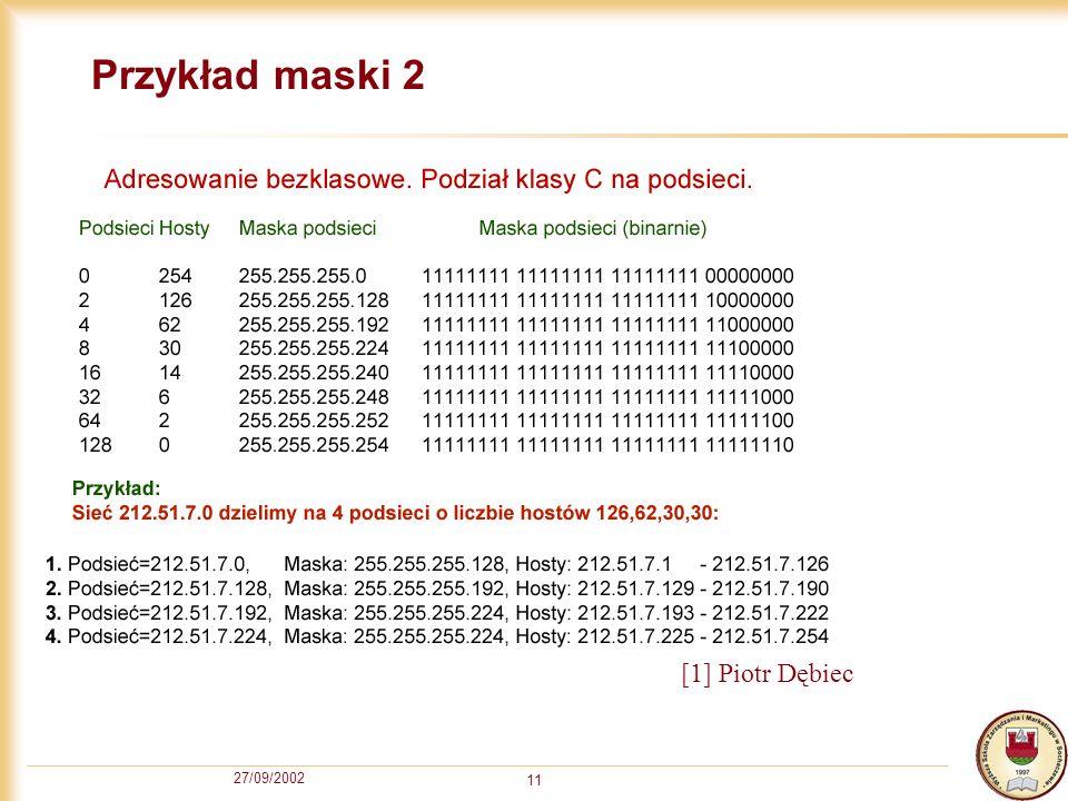 Przykład maski 2 [1] Piotr Dębiec 27/09/2002